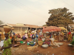 View of Tamale's market