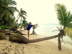 Royal dancer yoga pose; Tavewa Island