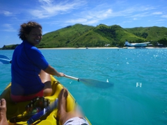 Kayaking around Nacula Island