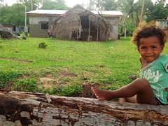 A beautiful Fijian girl; Tavewa Island