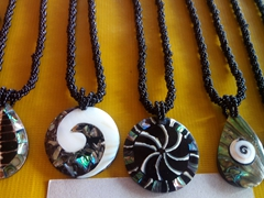 Shell necklaces for sale; Coral View Resort