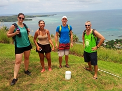 Nerea, Rashi, Ladso and Robby at the top of Tavewa Island