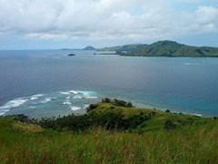 Looking out over the northernmost Yasawa Islands