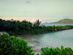 Morning breakfast view from Coral View Resort