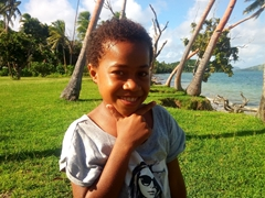 Beautiful Fijian girl; Tavewa Island