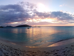 Gorgeous sunset on Blue Lagoon Beach Resort