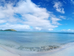 Pristine beach; Nacula Island