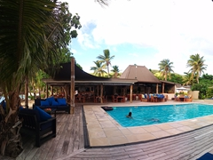 Panoramic of Blue Lagoon's swimming pool; Nacula Island