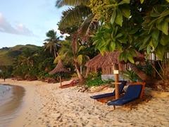 Comfortable lounging chairs; Blue Lagoon Beach Resort