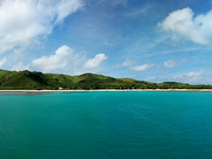 Goodbye Nacula Island! View from the Yasawa Flyer