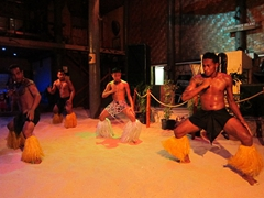 Polynesian floor show at Beachcomber Resort