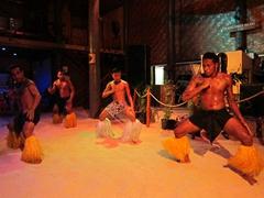 Polynesian floor show at Beachcomber Resort