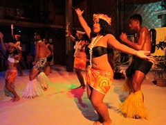 Talented dancers perform for us during the Polynesian show