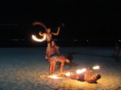 Fire dance; Beachcomber Resort