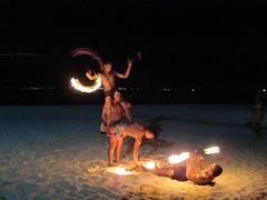 Fire dance; Beachcomber Resort