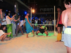 How low can you go; limbo competition at Beachcomber Island Resort