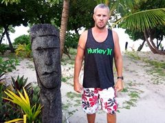 Mean pose; Bounty Island Resort