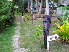 Coconut bure markers; Bounty Island
