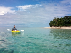 An easy kayak ride around the island