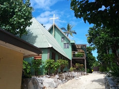 Wooden church; Beachcomber Island