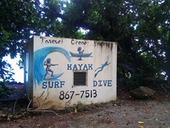 Taveuni Ocean Sports shack; Matei