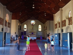 Inside the Wairiki Mission - the prettiest church on Taveuni