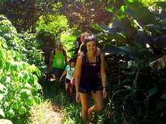 Hiking to the Waitavala Waterslide