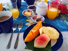 Snapshot of our daily breakfast; Makaira Resort