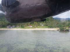 Getting ready to touch down in Savusavu's tiny airport
