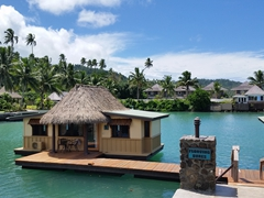 Floating bures; Koro Sun Resort