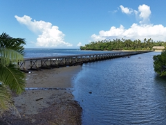 Bridge leading to the exclusive Wavi Island
