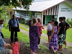 Getting ready for church service at Nasavusavu Gospel Chapel in Savusavu