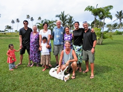 Our Siga Siga family (Emma, Luke, Nancy, Frances, Grace, Bob, Ann, Becky, Robby and our awesome host Gene with his dog Tuktuk)