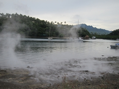 Hot springs in Savusavu Bay