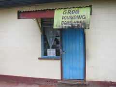 Grog pounding done here - only in Fiji can you find a store to pound your kava!