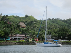Savusavu harbor is one of the Pacific's quaintest with a picturesque waterfront