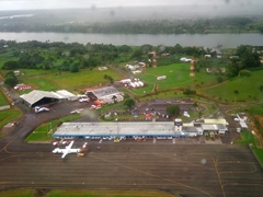 Flying out of Suva airport to Savusavu