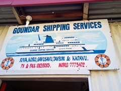 The Goundar Shipping office where we bought our tickets from Savusavu to Taveuni at a bargain 10 FJD each (including 90 minute bus ride to Buca Bay)