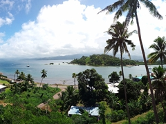 Panoramic view of Savusavu Harbor