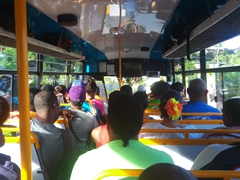 The crowded bus as we make our way from Savusavu to Buca Bay