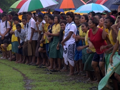 Watching Savusavu Secondary School students wildly cheer on their teams