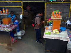 Fresh juice for sale at Sigatoka market