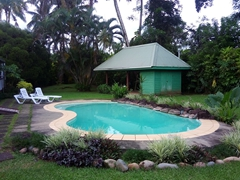 Swimming pool at our Pacific Harbour villa; Sevua Circle