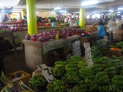 Fresh produce for sale at Suva's municipal market