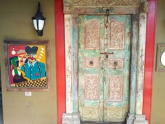 Entrance to Baka Blues Cafe, owned by Stella (a dear friend of ours from the Singapore days)