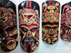 Wooden masks for sale