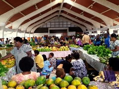 The main market is the best place to buy fresh fruits and vegetables for a bargain price