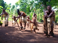 The villagers performed several traditional dances for us