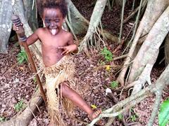 Young Ni-Vanuatu girl strikes a pose