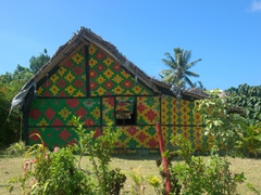Colorful village kava house